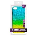 Накладка силиконовая Crystal Krutoff для iPhone 7/8 (желто-синяя)