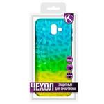 Накладка силиконовая Crystal Krutoff для Samsung Galaxy J6+ (SM-J610) (желто-синяя)
