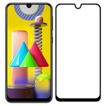 Стекло защитное Full Glue Premium Krutoff для Samsung Galaxy M31/M30/M30S/M21 черное