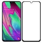 Стекло защитное Full Glue Premium Krutoff для Samsung Galaxy A40 черное