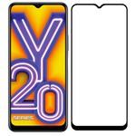 Стекло защитное Full Glue Premium Krutoff для Vivo Y20/Y20i черное