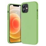 Чехол-накладка Krutoff Silicone Case для iPhone 12 mini (mint) 1