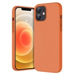 Чехол-накладка Krutoff Silicone Case для iPhone 12 mini (orange) 2
