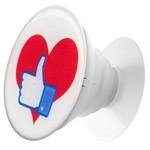 Пластмассовый держатель Krutoff для телефона Попсокет Сердце (вид 3)