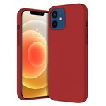 Чехол-накладка Krutoff Silicone Case для iPhone 12/12 Pro (red) 14