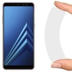 Стекло защитное гибридное Krutoff для Samsung Galaxy A8 (2018)