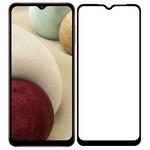 Стекло защитное Full Glue Premium Krutoff для Samsung Galaxy A12/M12 черное