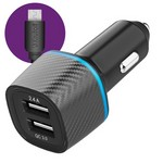 АЗУ Krutoff CCH-02M 2xUSB, 2.4A + QC 3.0, 30W + кабель micro USB (black)