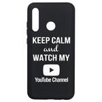 Чехол-накладка Krutoff Silicone Case YouTube для Honor 10i черный