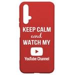 Чехол-накладка Krutoff Silicone Case YouTube для Honor 20 красный