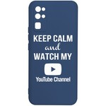 Чехол-накладка Krutoff Silicone Case YouTube для Honor 30 синий