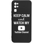 Чехол-накладка Krutoff Silicone Case YouTube для Honor 30 черный