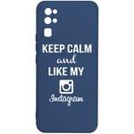 Чехол-накладка Krutoff Silicone Case Instagram для Honor 30 синий