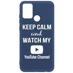 Чехол-накладка Krutoff Silicone Case YouTube для Honor 9A синий