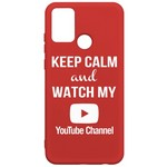 Чехол-накладка Krutoff Silicone Case YouTube для Honor 9A красный