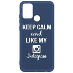 Чехол-накладка Krutoff Silicone Case Instagram для Honor 9A синий