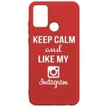 Чехол-накладка Krutoff Silicone Case Instagram для Honor 9A красный