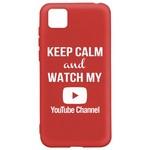 Чехол-накладка Krutoff Silicone Case YouTube для Honor 9S/Huawei Y5p красный