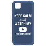 Чехол-накладка Krutoff Silicone Case YouTube для Honor 9S/Huawei Y5p синий