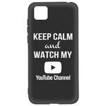 Чехол-накладка Krutoff Silicone Case YouTube для Honor 9S/Huawei Y5p черный