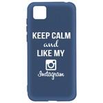 Чехол-накладка Krutoff Silicone Case Instagram для Honor 9S/Huawei Y5p синий