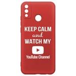 Чехол-накладка Krutoff Silicone Case YouTube для Honor 9X Lite красный