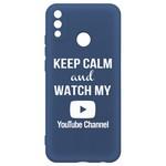 Чехол-накладка Krutoff Silicone Case YouTube для Honor 9X Lite синий