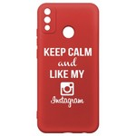 Чехол-накладка Krutoff Silicone Case Instagram для Honor 9X Lite красный