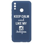 Чехол-накладка Krutoff Silicone Case Instagram для Honor 9X Lite синий