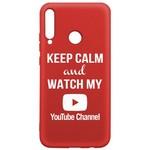 Чехол-накладка Krutoff Silicone Case YouTube для Huawei P40 Lite E/ Honor 9C красный