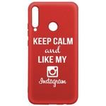 Чехол-накладка Krutoff Silicone Case Instagram для Huawei P40 Lite E/ Honor 9C красный