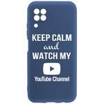 Чехол-накладка Krutoff Silicone Case YouTube для Huawei P40 Lite синий