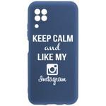 Чехол-накладка Krutoff Silicone Case Instagram для Huawei P40 Lite синий