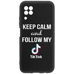 Чехол-накладка Krutoff Silicone Case TikTok для Huawei P40 Lite черный