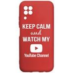 Чехол-накладка Krutoff Silicone Case YouTube для Huawei P40 Lite красный