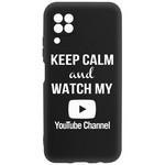 Чехол-накладка Krutoff Silicone Case YouTube для Huawei P40 Lite черный