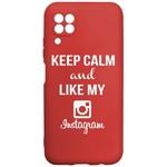 Чехол-накладка Krutoff Silicone Case Instagram для Huawei P40 Lite красный