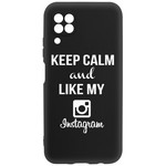 Чехол-накладка Krutoff Silicone Case Instagram для Huawei P40 Lite черный