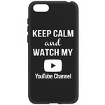 Чехол-накладка Krutoff Silicone Case YouTube для Huawei Y5 Prime (2018)/ Y5 Lite (2018)/ Honor 7A Prime/ 7A/ 7S черный