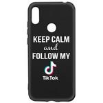 Чехол-накладка Krutoff Silicone Case TikTok для Huawei Y6 (2019)/ Y6s/ Honor 8A/ 8A Pro/ 8A Prime черный
