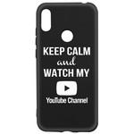 Чехол-накладка Krutoff Silicone Case YouTube для Huawei Y6 (2019)/ Y6s/ Honor 8A/ 8A Pro/ 8A Prime черный