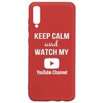 Чехол-накладка Krutoff Silicone Case YouTube для Huawei Y6p красный