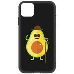 Чехол-накладка Krutoff Soft Case Авокадо  Деловой  для Apple iPhone 11 черный