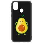 Чехол-накладка Krutoff Soft Case Авокадо Недоумевающий  для Samsung Galaxy M21 (M215) черный