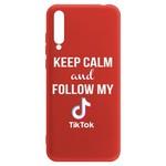Чехол-накладка Krutoff Silicone Case TikTok для Huawei Y8p/ Honor 30i красный
