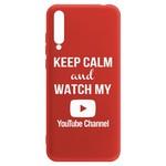 Чехол-накладка Krutoff Silicone Case YouTube для Huawei Y8p/ Honor 30i красный