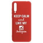 Чехол-накладка Krutoff Silicone Case Instagram для Huawei Y8p/ Honor 30i красный