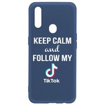 Чехол-накладка Krutoff Silicone Case TikTok для OPPO A31 синий