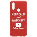 Чехол-накладка Krutoff Silicone Case YouTube для OPPO A31 красный