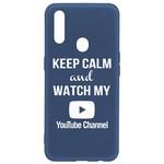 Чехол-накладка Krutoff Silicone Case YouTube для OPPO A31 синий